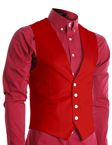 Red 4 Buckle Vest - 1