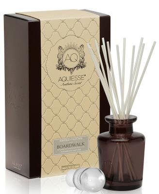 BOARDWALK AQUIESSE Reed Diffuser Portfolio Collection Gift Boxed, Brown, White