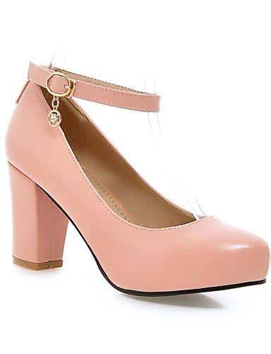 BGYHU GGX Damen Schuhe Schuhe Schuhe PU Chunky Heel Heels Komfort Heels Büro & Karriere Casual Schwarz Rosa Lila Weiß 24606f