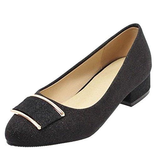 Fashion KemeKiss Black Women Heel Low Pumps rPP0xqB5w