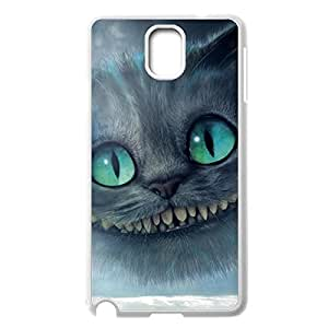 Fashion Cheshire Cat Quotes We Are All Mad Here Back Protective Back Case Slim Printed cover for Samsung Galaxy Note 3 N9000 -White030901