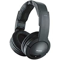 Sony 900MHz Wireless Stereo Noise Reduction Headphones With 40 mm Driver Units, Automatic Tuning, Up To 45 Meter (150 Ft.) Reception Range, 25 Hour Battery Life, Volume Control On Headphones, Easy Connection Of TV, Hi-Fi, And Other Components, Model MDR-RF985RK