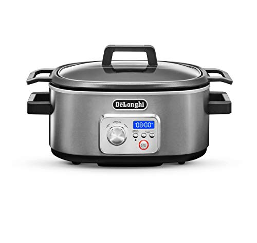 De'Longhi CKS1660D Livenza Programmable Slow Cooker with Stovetop-Safe Pot