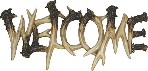 River's Edge Products 1382 Deer Antler Theme Welcome Plaque ()