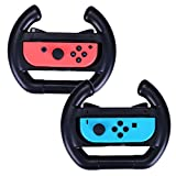 HDE Nintendo Switch Wheel Deluxe Joy-Con Steering Wheel Controller Attachments for Kart Racing Games (Black 2 pack)
