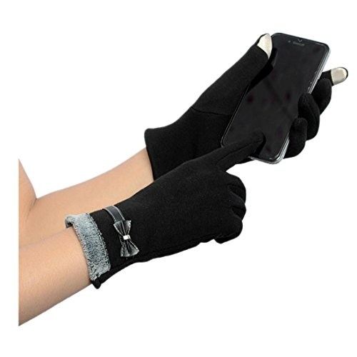 ジョリー牧師赤字手袋、Torawayレディース冬暖かい手首タッチ画面手袋