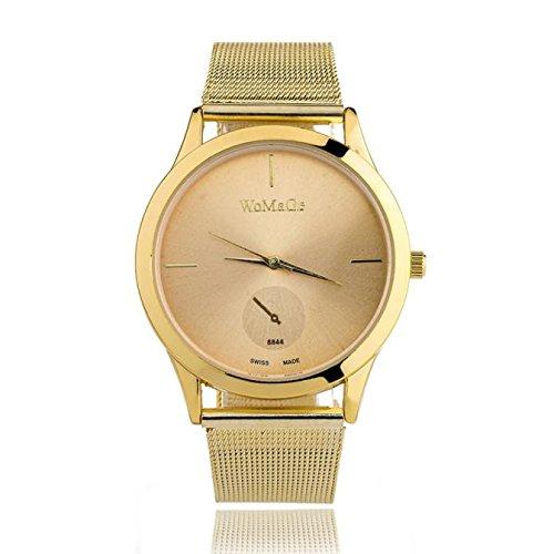 Gold Lover Watch (AmyDong Clearance Women Watch on Sale Fashion Alloy Belt Watch Unisex Minimalist Style Quartz Watch (Gold))