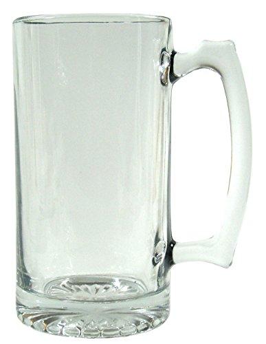Barware Clear Glass Beer Mug 26.5oz Stein (Big n Heavy Clear (2 Old Germany Stein)