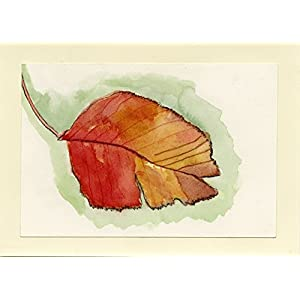 Watercolor Floral Painting - Redleaf - Fine Art Print, Wall Decor, Gift 42