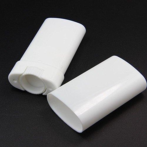 TOPWEL 10pcs 15ml Deodorant Containers White Empty Plastic