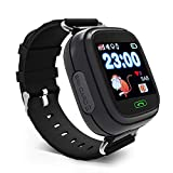 KOSCHEAL Reloj Q90 GPS Smart Watch Baby. Reloj Inteligente con Wi-Fi, Pantalla táctil, Llamadas de Emergencia, localizador de posicionamiento,Varios Colores(Negro)