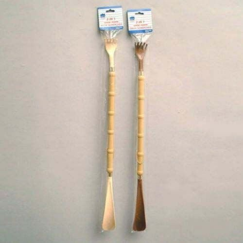 Back Scratcher With Shoe Horn Nice Bamboo Handle (Pack Of 144)