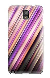 New Style Case Cover BKlarnj2721Uayqq Bright Pink Purple Diagonal Lines Compatible With Galaxy Note 3 Protection Case