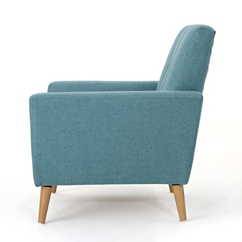Christopher Knight Home 303696 Angelina Mid Century Blue Fabric Club Chair, - 4