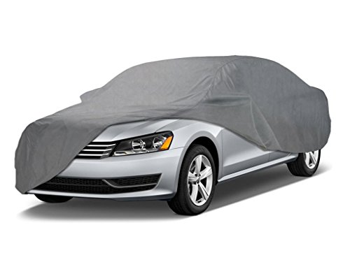 Coverking UVCCAR3I98 Universal Fit Car Cover for Sedan Length 14.3 ft. to 16.8 ft. - Triguard Light Weather Outdoor (Gray)