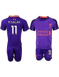 CUXS New Liverpool M.Salah #11 Away Purple Kids/Youth Soccer Jersey 2018/2019