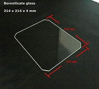 AiCheaX – Cristal de borosilicato 214 x 214 x 4 mm placa de ...