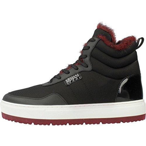 Armani Botas Para Mujer, Color Negro, Marca Jeans, Modelo Botas Para Mujer Jeans 925302 7A652 Negro Negro