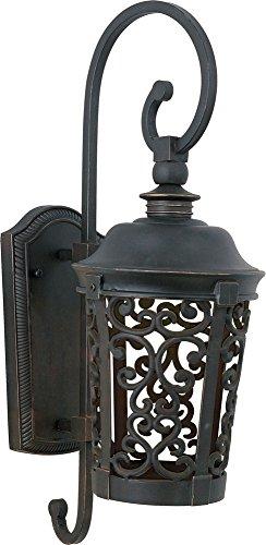 Dark Bronze Outdoor Hanging (Maxim Lighting 55393BZ Whisper Dark Sky LED Outdoor Wall Mount, Bronze)