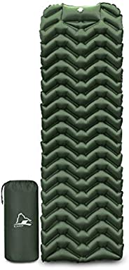 EJsoyo Camping Sleeping Pad, Ultralight 19.4 OZ,New Upgrade Camping Sleeping Pad with Built-in Inflator,Great