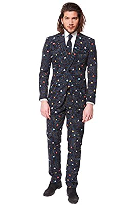 OppoSuits Mens PAC-MAN Party Suit - Video Game Costume