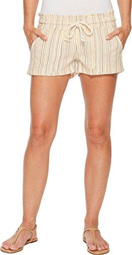 Roxy Women's Oceanside Yarn-Dyed Shorts Oak Buff Wabi Sabi (Roxy Lightweight Shorts)