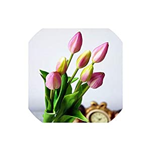 Artificial Tulips Silicone Artificial Tulip Flowers for Home Wedding Decoration Artificial Flores Garden Decoration,A 48
