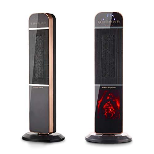 Heater GJM Shop Calentador De Oscilación Calefacción Cerámica PTC Vertical 2000W Ventilador De La Torre Patrón De Fuego...