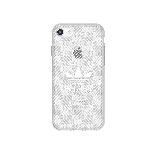 adidas Originals clear case logo pour iPhone 7 blanc