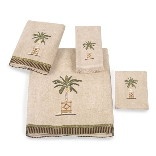 Avanti Linens Embroidered 4-Piece Decorative Towel Set
