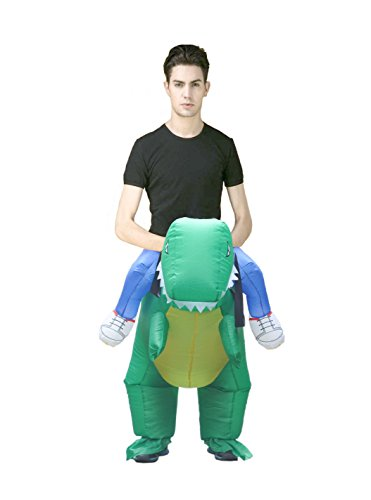 [LB Tyrannosaurus Dinosaur Ride A T.Rex Inflatable Costume Men's Jurassic World ...] (Raptors Mascot Costume)