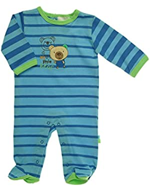ABSORBA Baby-Boys Newborn Cotton Footie