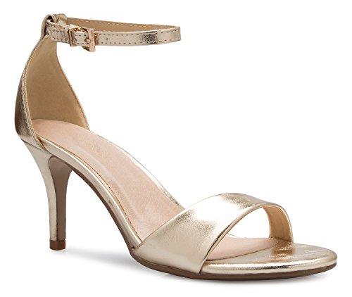 OLIVIA K Women's Ankle Strap Classic Low Heel Dress (Classic Low Heel Heels)