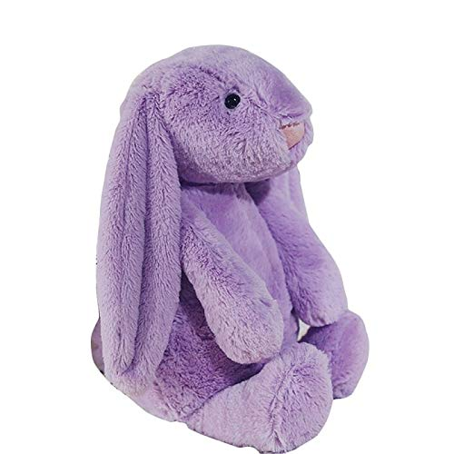 Figurines & Miniatures - 1pcs Cartoon Lovely Plush Long Ears Rabbit Toy Figurines Soft Stuffed Bunny Easter Decor Children - Figurines Silver Metal Miniatures -
