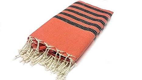 Amazon.com: FOUTA TOALLA. Túnez Picnic Mantas, manta, toalla ...