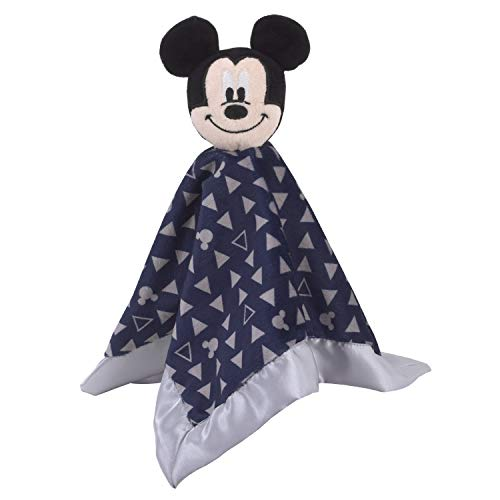 - Disney Mickey Mouse Lovey Security Blanket, Navy/Grey