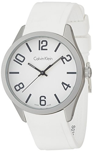 Calvin Klein Men's Analogue Quartz Watch with Silicone Strap K5E511K2