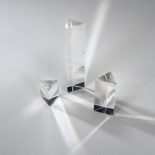 Equilateral Acrylic Prism Set (set of 3: 1