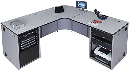 Spectrum Industries 68025MZD Instructor Media Console 3 L Shape Double/Double