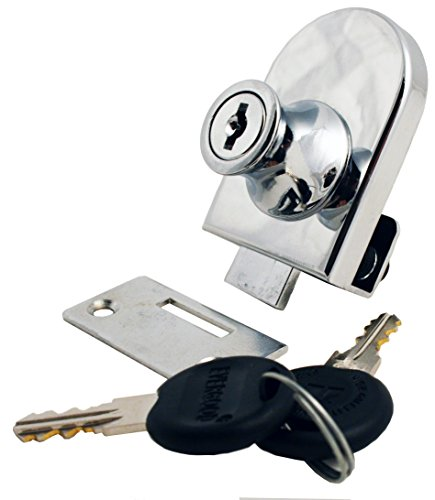 (FJM Security 0240-KA, Single Glass Door Lock with Chrome Finish, Keyed Alike)