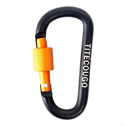 [해외]TITECOUGO 알루미늄 합금 D 링 고강도 Carabiner 열쇠 고리 클립 캠핑 용 하이킹 야외 하이킹 (등산용 제외)/TITECOUGO Aluminum Alloy D-Ring High Strength Carabiner Key Chain Clip Hook For Camping Hiking outdoor (Not for Climbing)
