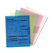 Smead Poly Translucent Project File Jacket, Letter Size, Assorted Colors, 5 per Pack (85750)