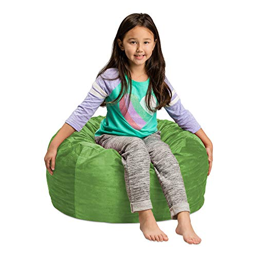 Sofa Sack – Plush, Ultra Soft Kids Bean Bag Chair – Memory Foam Bean Bag Chair with Microsuede Cover – Stuffed Foam Filled Furniture and Accessories For Kids Room – 2′ Lime