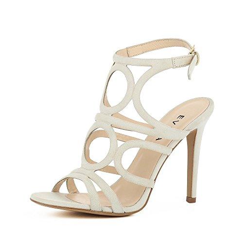 Evita Shoes Eva Damen Sandalette Rauleder Cremeweiß