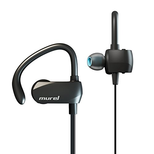 Murel Best Bluetooth Earbuds Wireless Sport 8 Hour Play Time in-Ear Exercise Running Sweat Proof Bluetooth 4.1, Secure Ear Hooks Design with Premium Comply Foam Ear Tips P02 (New) ()