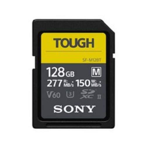 SF-M128T//T1 CL10 U3 W150MB//S Sony Tough-M Series SDXC UHS-II Card 128GB V60 Max R277MB//S
