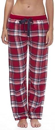 Mujer Tejido Pantalones De Andar Por Casa Pantalones Pijamas Ropa Para Dormir De Cuadros Franela Pijama Pjs Algodon Grande 100 Algodon Mujer Red Check 34b276 Amazon Es Ropa Y Accesorios