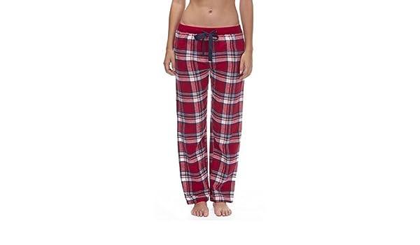 Mujer Tejido Pantalones De Andar Por Casa Pantalones Pijamas Ropa Para Dormir De Cuadros Franela Pijama Pjs - algodón, GRANDE, 100% algodón, mujer, ...