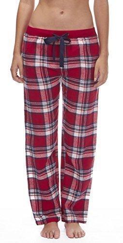 Mujer Tejido Pantalones De Andar Por Casa Pantalones Pijamas Ropa Para Dormir De Cuadros Franela Pijama