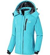 Wantdo Women's Hooded Winter Coat Waterproof Snowboarding Coat Outdoor Windproof Fleece Jacket Mo...